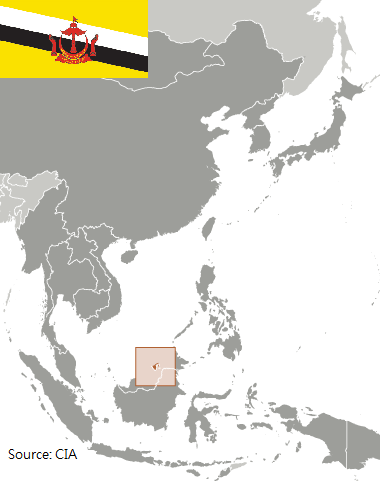 Flag and map of Thailand
