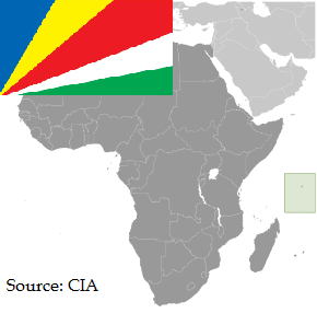 Flag and map of Seychelles